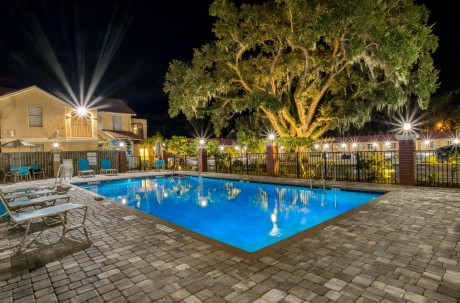 Villa 1565 - Outdoor Pool Night view